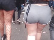 Spying Huge Fat Ass - Jiggly Big Booty - Skin Tight Shorts