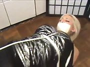 Sexy Girl in Leggins Tied and Gagged