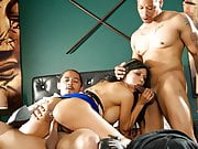 Spizoo - Latin Milf Gabby Quinteros is punished by Two BBC