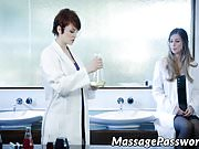 Sexy scientist babe is very eager to lick a juicy love tube