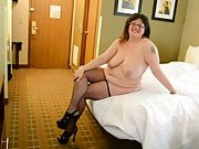 SEXY TRICITY IN STOCKINGS