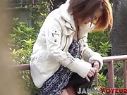 Classy Japan babes titty teasing all around the city