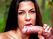 LETSDOEIT - Outdoor Blowjob In The Woods with Alexa Tomas
