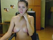 Sweet girl with torpedo tits got many tokens due sexy music