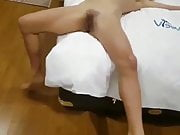 asian wife playing with friend