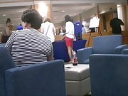 Two leggy Chinese college girls at orientation