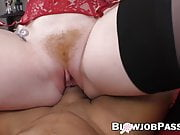 Redhead MILF with big boobs gives an unforgettable blowjob