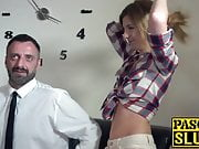 Tempting Melissa Meddison bouncing on ass piercing cock