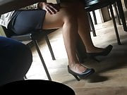 Candid feet and heels at work #21
