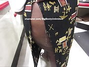 Short Chocolate BBW Wide Booty Ripped Skirt 2