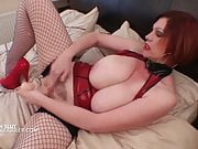 Dirty British slut plowing her eager pussy