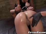 Dominated Isa Mendez dildoed in hardcore lesbian threesome