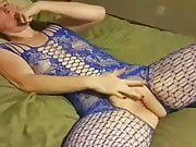Slut playing with her toy