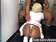 Rear Perspective BJ Young Blonde African American Lady Ass