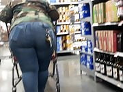 Huge Juicy Rump Trapped In Tight Jeans Posing