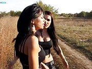 Shalina and Honey looking for some in the middle of nowhere