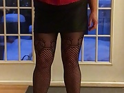 Red corset and heels