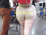 Beige Booty Shorts PAWG