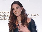 Duchess Kate Middleton dressed to receive lots of hot spunk